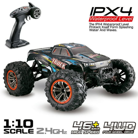 Hosim Large 1:10 Scale High Speed 46km/h 4WD 2 4Ghz Remote Control Truck  9125, Radio Controlled Off-Road RC Car Electronic Monster Truck R/C RTR  Hobby
