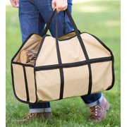 Durable Canvas Log Carrier, Tan