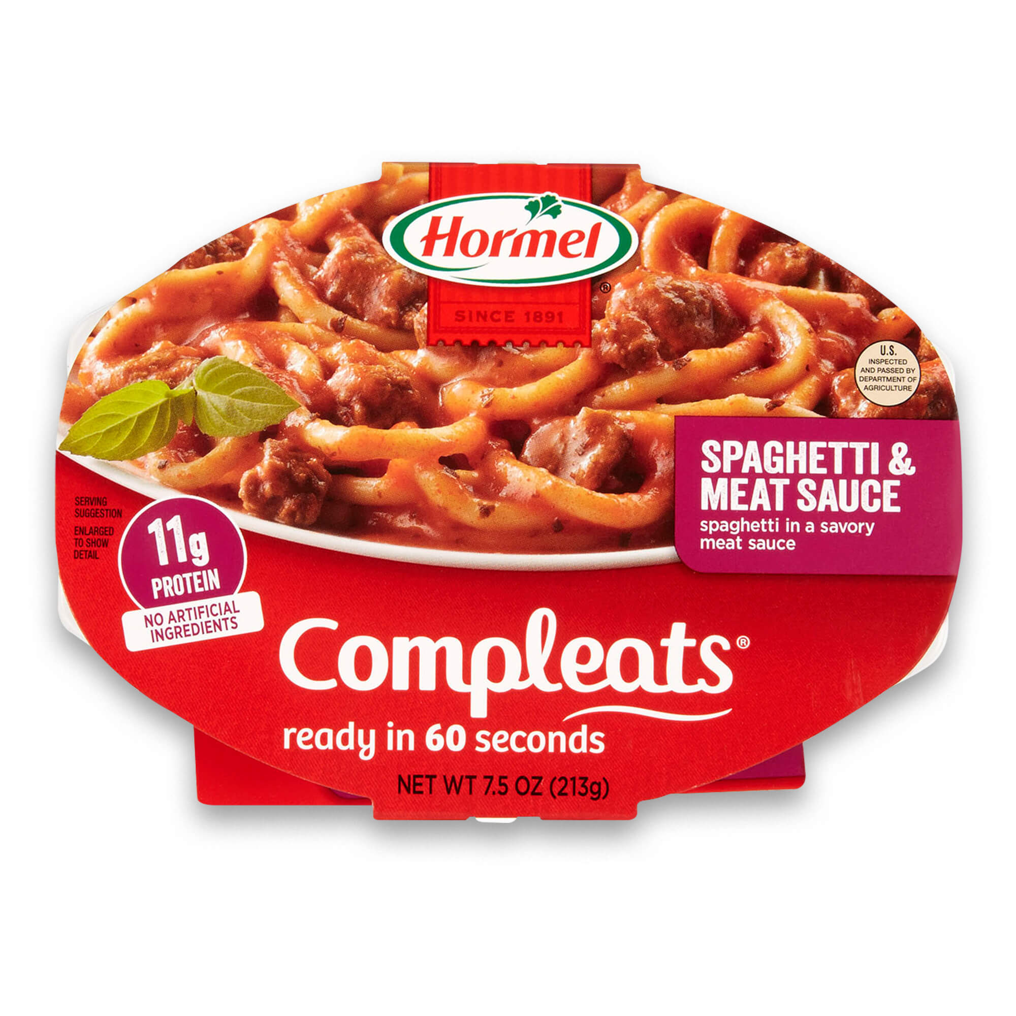 (3 Pack) Hormel Compleats Spaghetti & Meat Sauce, 7.5 Ounce