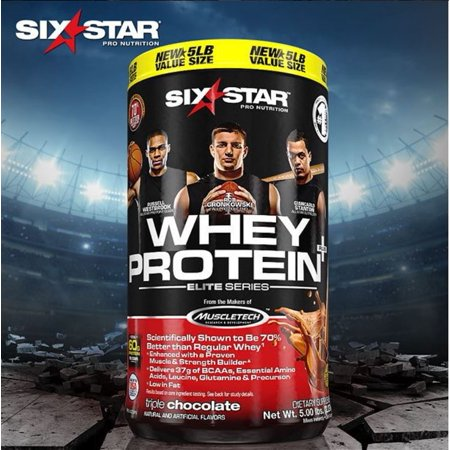 Six Star Whey Protein Plus Triple Chocolate Dietary Supplement  5 Lbs