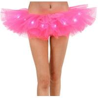 Adult LED Tutu Light Mesh Petticoat Dance Rave Tutu Skirt for 80s Costume Party