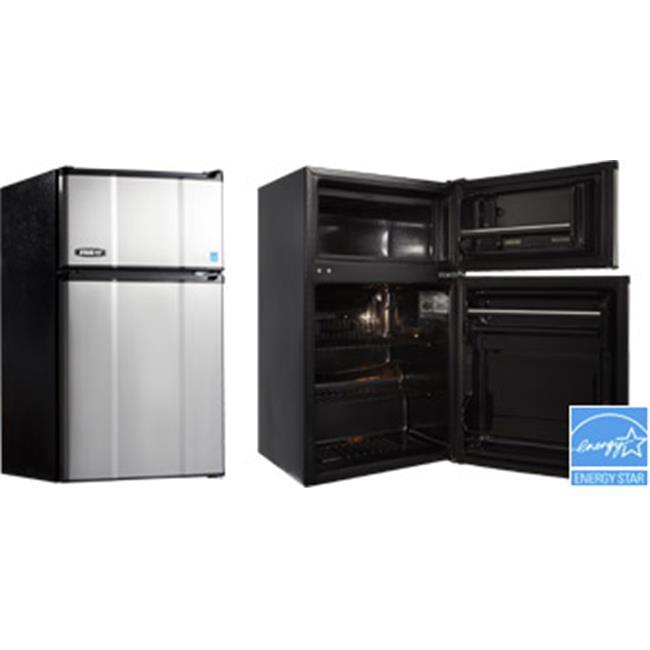 MicroFridge Refrigerator & True Freezer Combo Appliance, Stainless Steel - 3.1 cu ft.