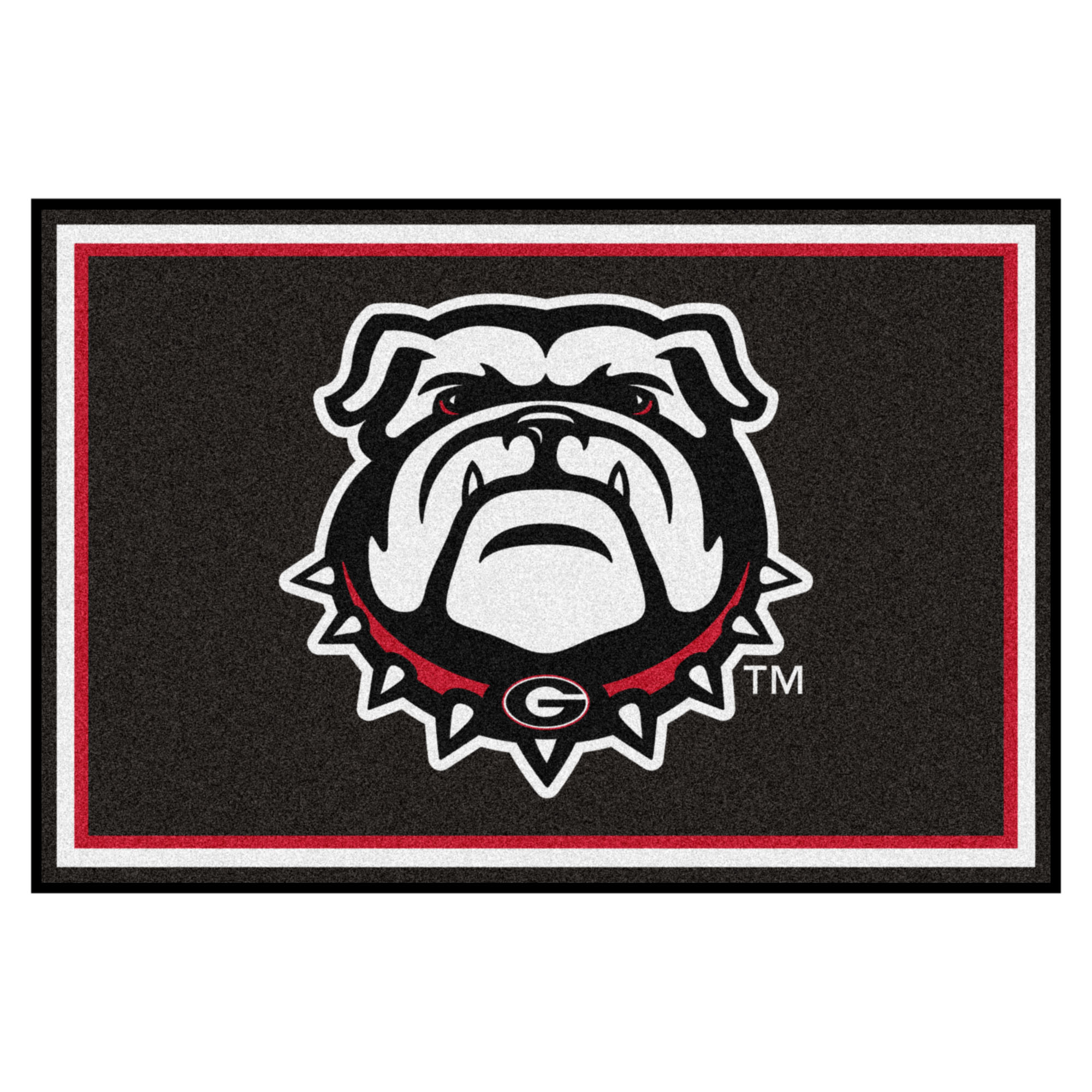 Georgia Black New Bulldog 5'x8' Rug