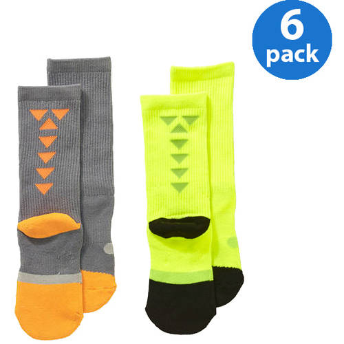 Starter Boys' Crew Socks - Your Choice of Color 6-Pack Bundle