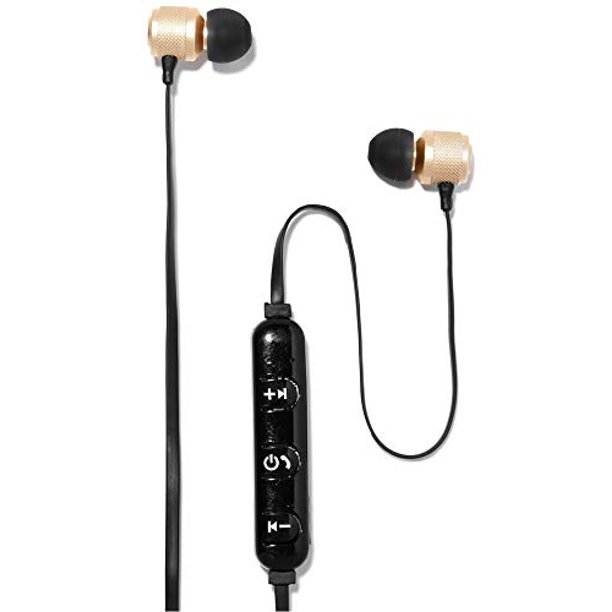 Polaroid Wireless Bluetooth Gold Metallic Earbuds Walmart Com Walmart Com