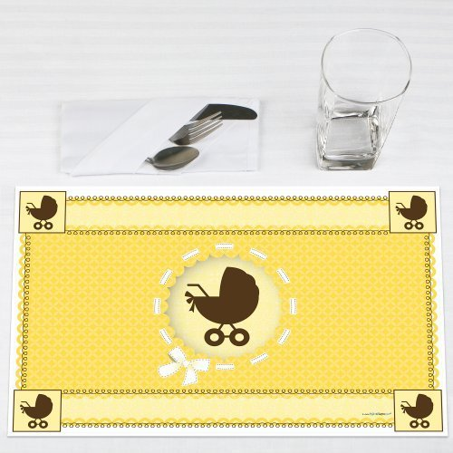 Baby Carriage Party Placemats Set of 12 by Big Dot of Happiness, LLC