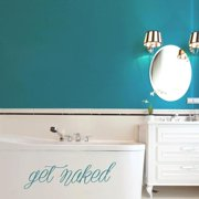 Sweetums Get Naked 36-inch x 10-inch Bathroom Wall Decal