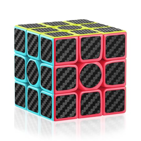 Carbon Fiber 3x3 Speed Cube 3x3x3 Magic Cube Puzzle Brain Teaser Toys](Magic Cubes)