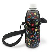 Hawaiiana Bottle Cooler With Strap Adventures Black by Welcome To The Islands