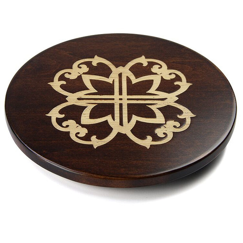 Martins Homewares 85054M Artisan Woods Morocco Trivet, Brown - 0.75 x 8 in.