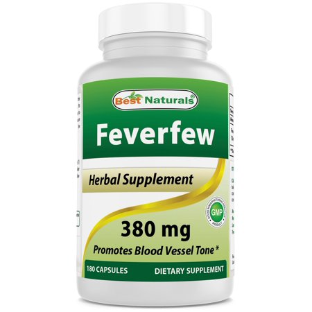 Best Naturals Feverfew 380 mg 180 Capsules (Best Over The Counter Medicine For Male Yeast Infection)