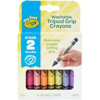 Crayola My First Washable Tripod Grip Crayons, 16 Count