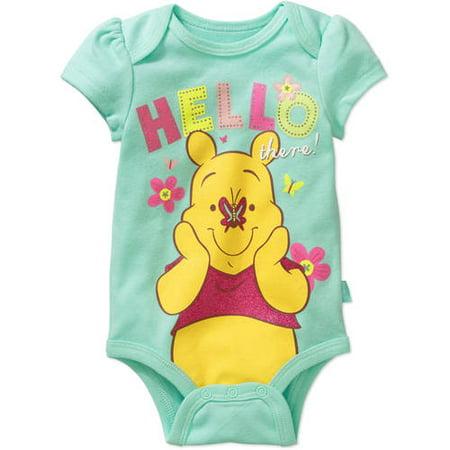 Winnie the Pooh Newborn Baby Girls' Bodysuit
