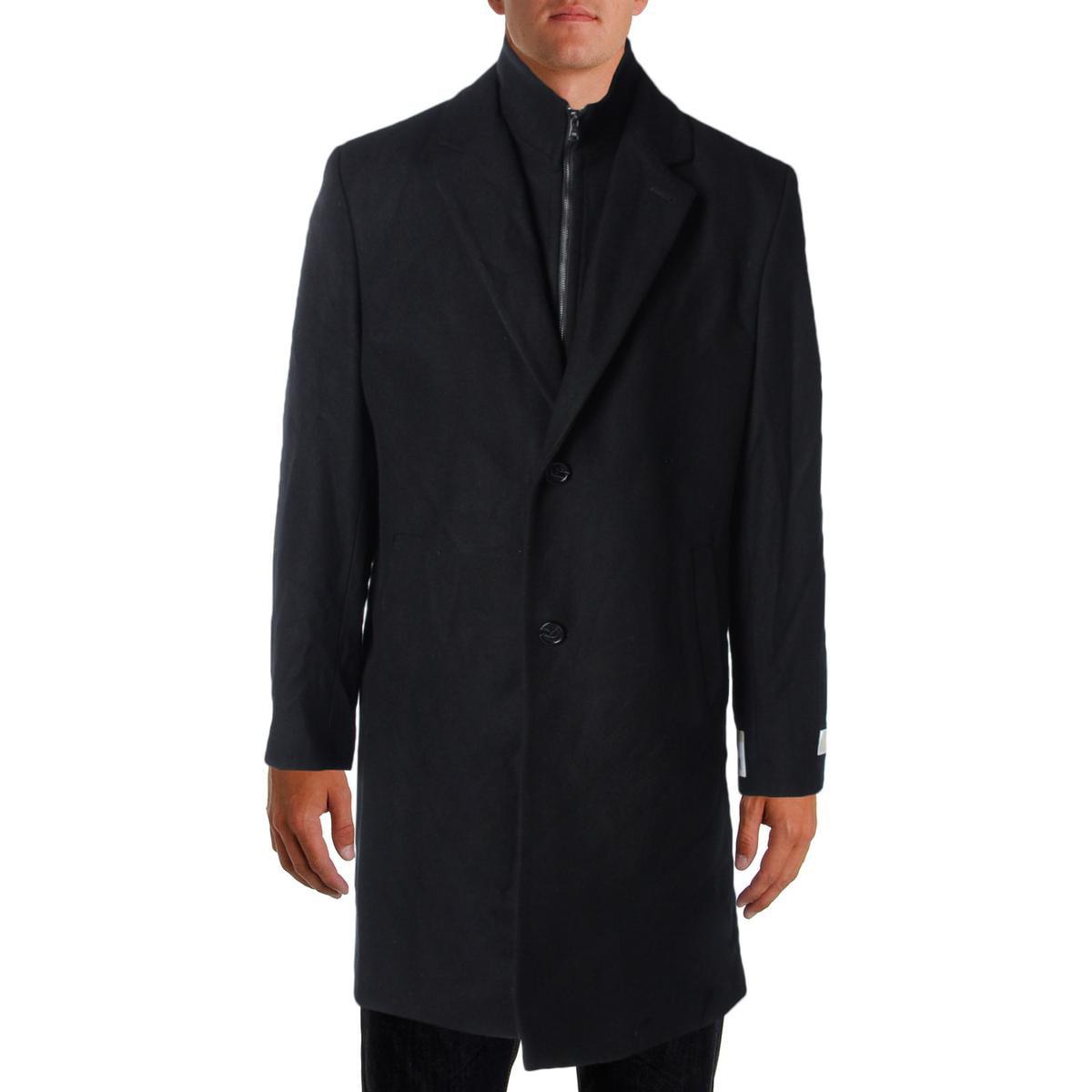MICHAEL Michael Kors Mens Wool Signature Coat by MICHAEL Michael Kors