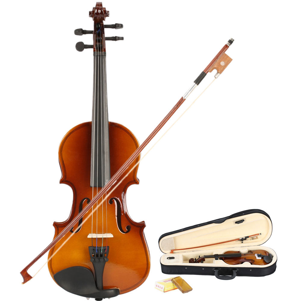 Zimtown New 1/8 Acoustic Violin + Case + Bow + Rosin Natural
