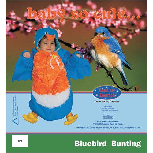 Dress Up America Infant Bird, Blue, 0-12 Months