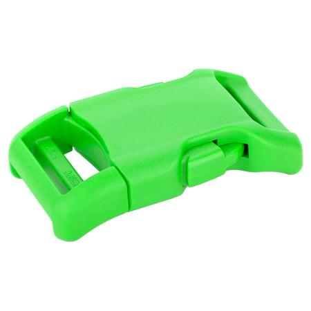 1 Inch Hot Green YKK Contoured Side Release Plastic Buckle