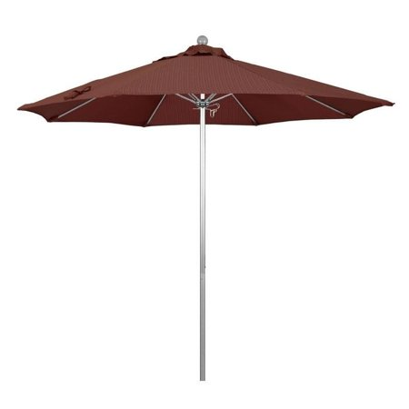 Magnolia Garden 9' Push Lift Aluminum/Fiberglass Umbrella with Olefin Fabric - Terrace Adobe
