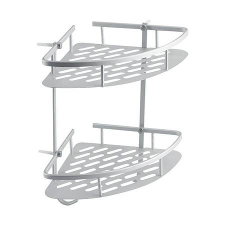 - EECOO 2 Tiers Triangular Shower Caddy Shelf Bathroom Corner Rack Storage Basket Holder