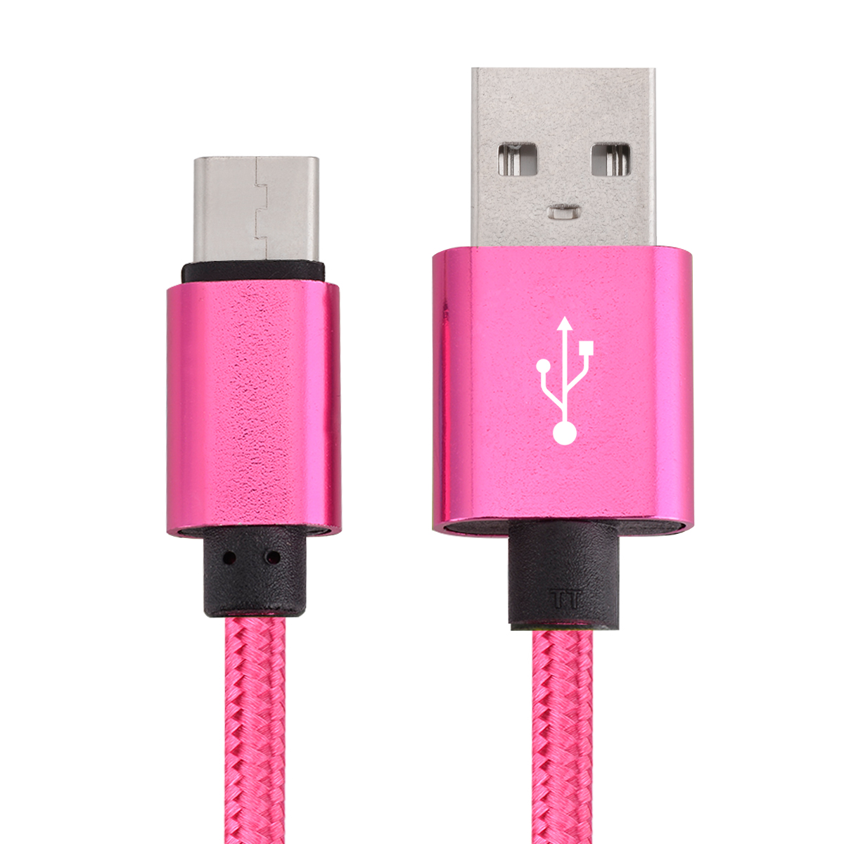 USB Type C Cable Fast Charging Cable 10FT USB-C Type-C 3.1 Nylon Braided Data Sync Charger Cord For Samsung Galaxy S8 + Note 8 Nexus 5X 6P LG G5 G6 V20 HTC 10 Google Pixel XL OnePlus 3 5 Hot Pink