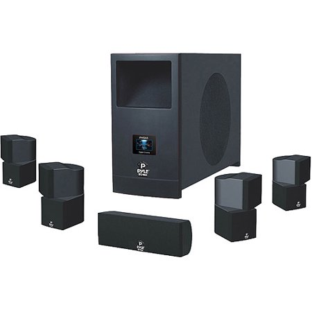 Pyle PHSA5 5.1 Home Theater System with Active Subwoofer and 5 Satellite Speakers