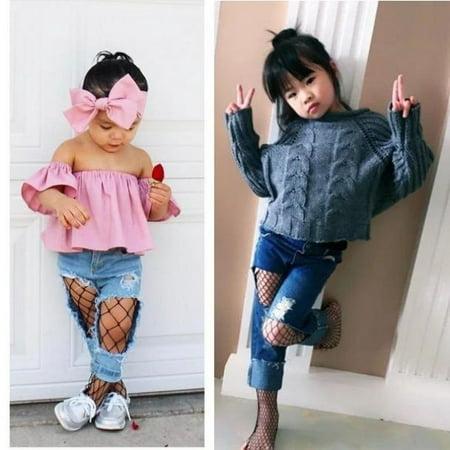 Fashion Kids Baby Girl Mesh Fishnet Net Pattern Pantyhose Tights Stockings Socks](Girls Fishnet Stockings)