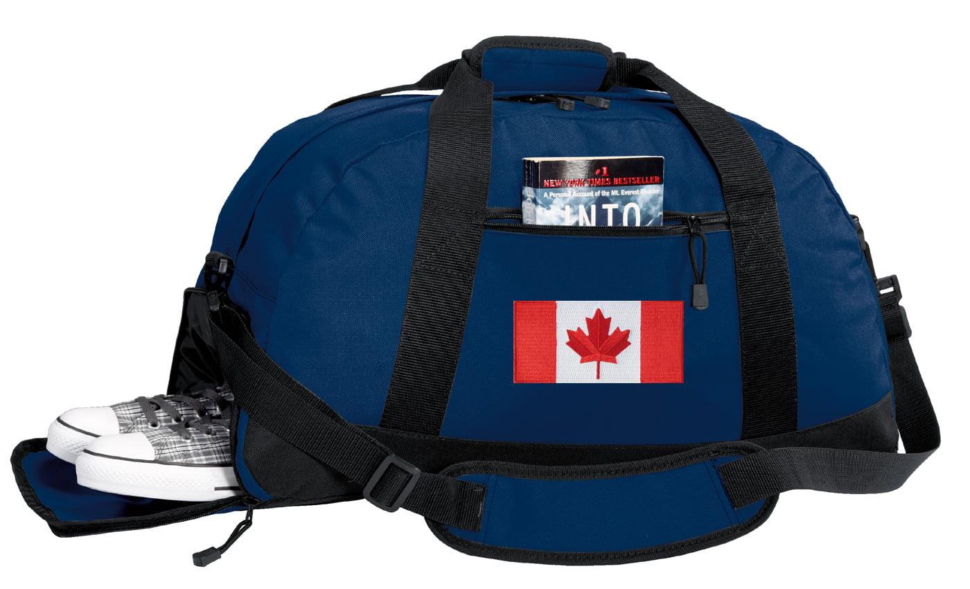 Canada Flag Duffel or Canadian Flag Gym Bag WITH SHOE POCKET