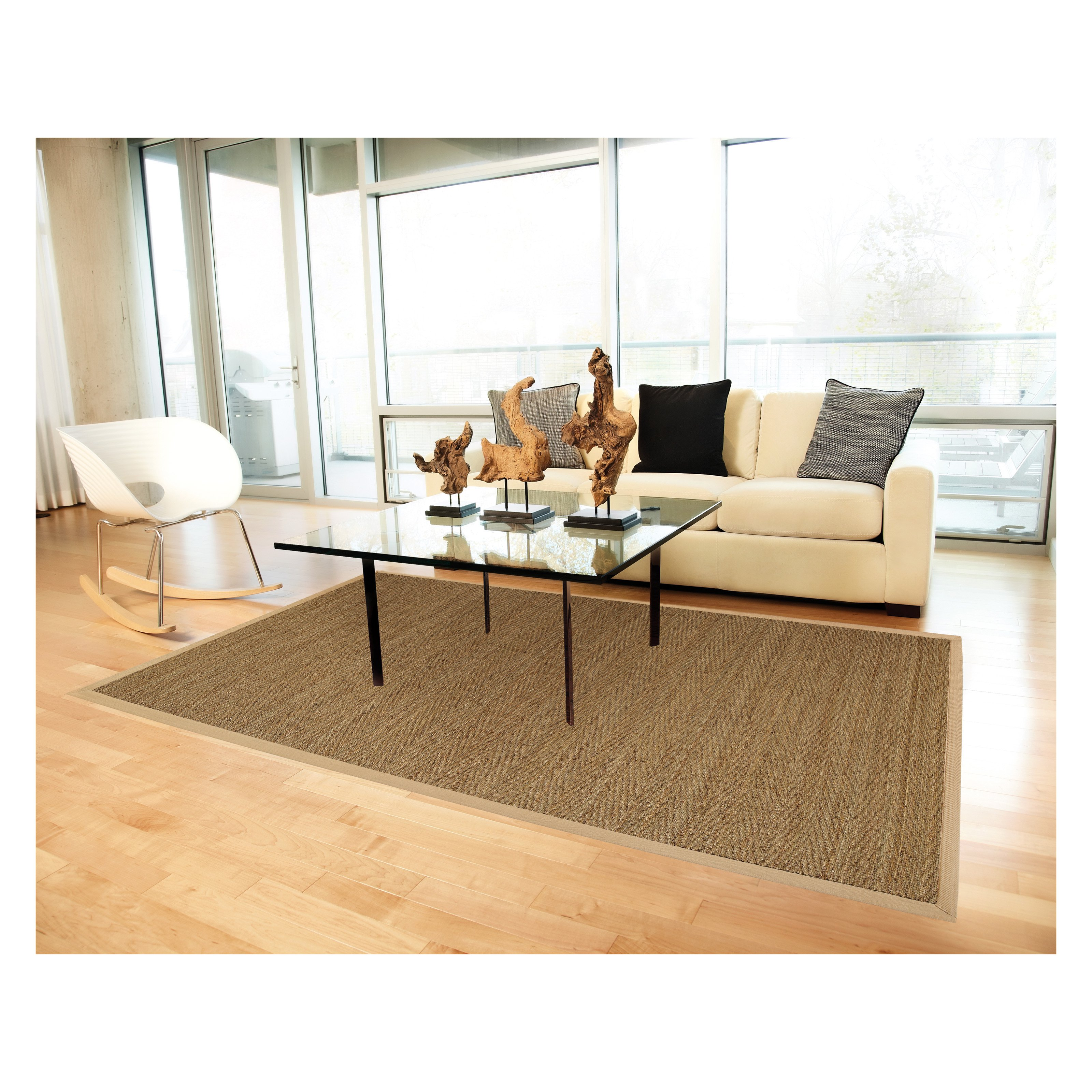 Anji Mountain Seagrass Saddleback Seagrass Rug - (5 Feet x 8 Feet)