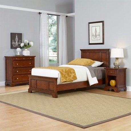 home styles chesapeake twin 3 piece bedroom set in cherry. Black Bedroom Furniture Sets. Home Design Ideas