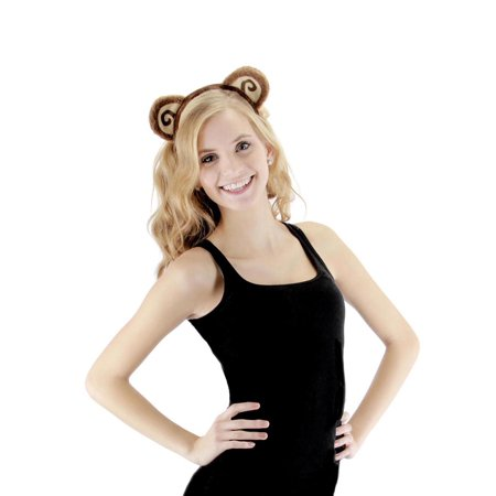 Monkey Ears & Tail Costume Accessory Kit Adult](Brown Mouse Ears)