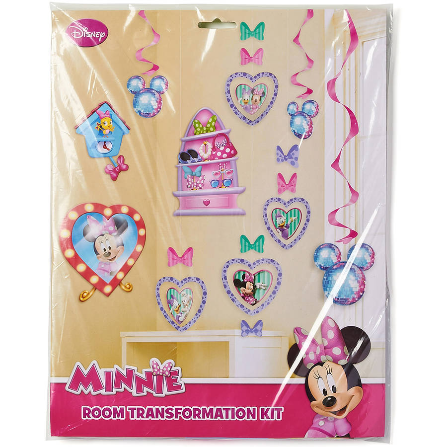 Minnie Mouse Bow-Tique Room Decorating Kit, Value Pack, Party Supplies