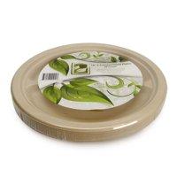 "Natural Compostable Plant Fiber 10"" 3-Compartment Plate, 20 Count"
