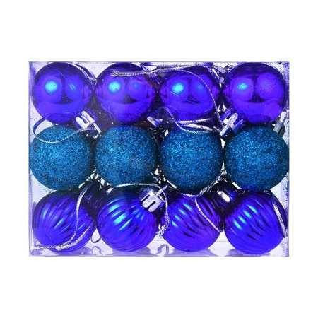 24Pcs 30mm Christmas Xmas Tree Ball Bauble Hanging Home Party Ornament Decor ()