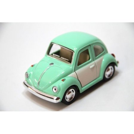 "4"" Kinsmart 1967 Volkswagen Beetle Diecast Model Toy Car NoScale Pastel 2T Green"