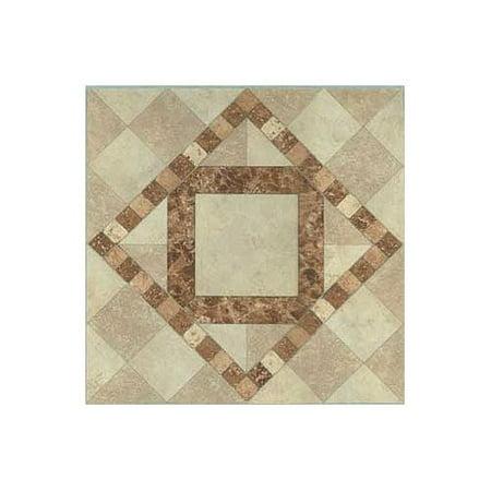 Floor Tile 1 Box Covers - Vinyl Self Stick Floor Tile 23430 - 1 Box Covers 20 Sq. Ft., Self-adhesive vinyl flooring By Home Dynamix