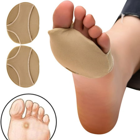 Globoped Forefoot Relief Shoe (KABOER 2Pairs Fabric Metatarsal Pads Reusable Ball of Foot Cushions, Gel Forefoot Pads Pain Relief Neuroma and Prevent Callus)