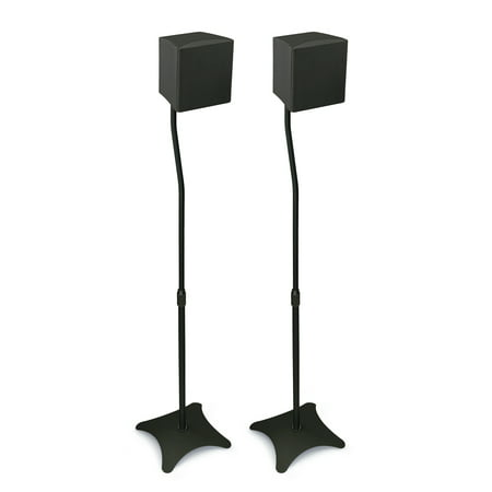 Mount-It! Speaker Stands for Home Theater 5.1 Channel Surround Sound System (Best Sounding Home Speakers)
