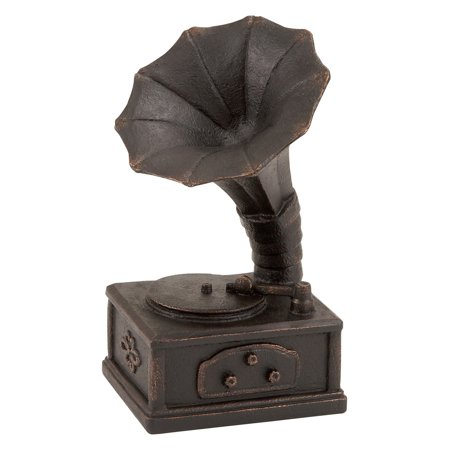 Woodland Imports 10H in. Polystone Gramophone