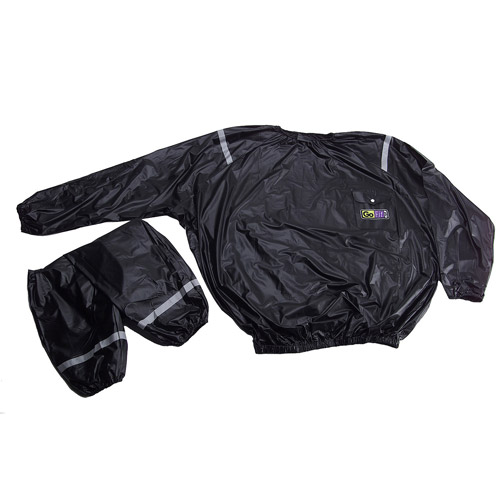 GoFit Vinyl Sweat Suit with Reflective Strips