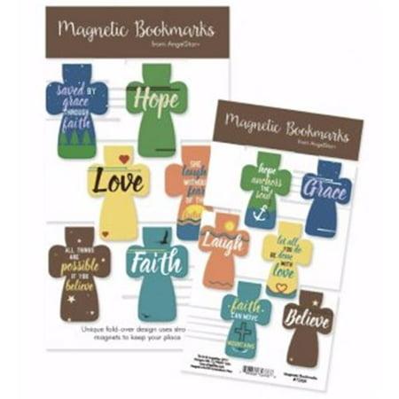 Angel Star 161529 Magnetic Cross & Hope Peace Love Faith Bookmark - Set of - Cross Bookmark