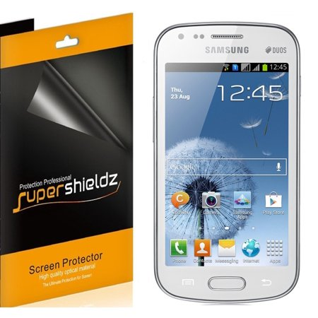 [6-pack] Supershieldz for Samsung Galaxy S Duos S7562 Screen Protector, Anti-Bubble High Definition (HD) Clear