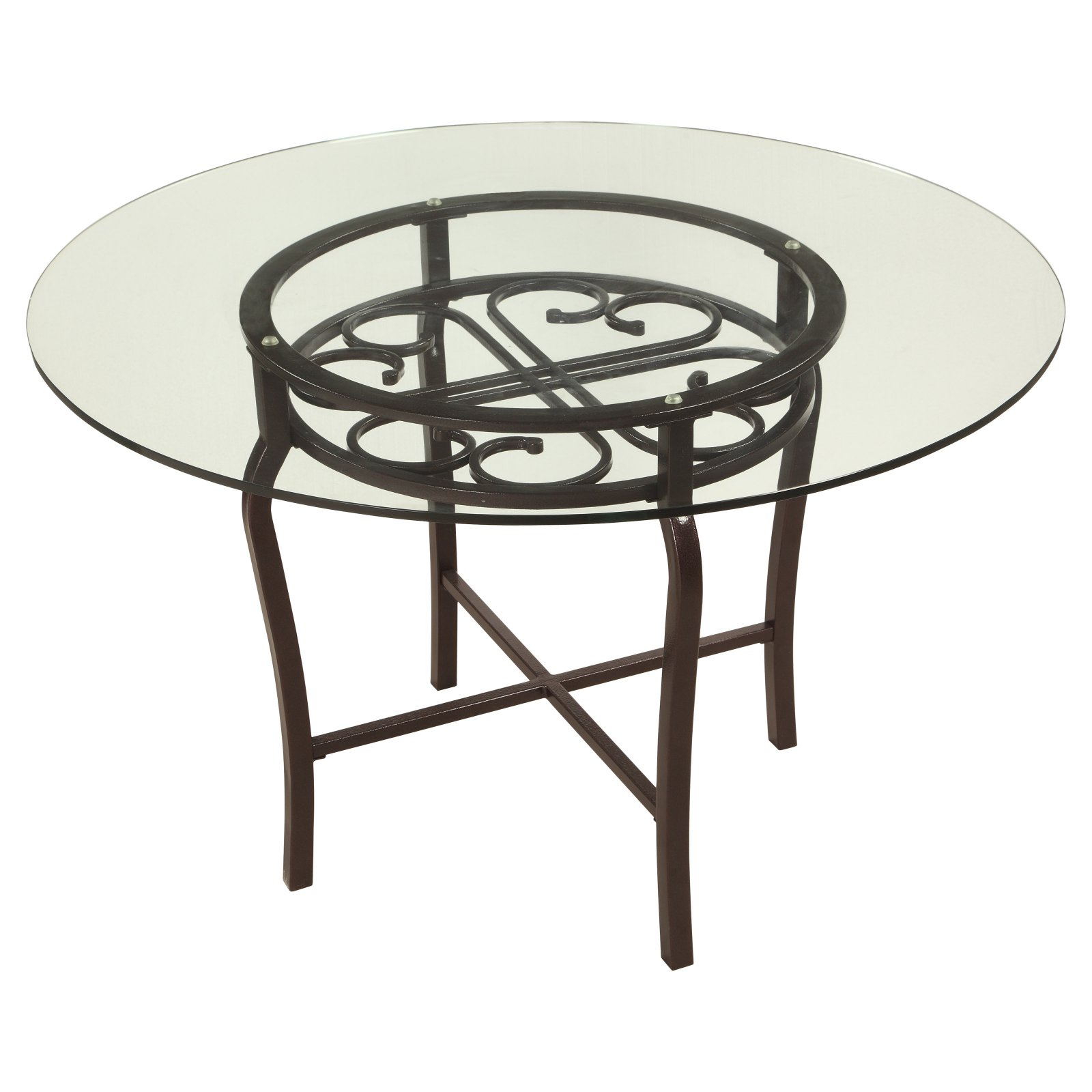 Chintaly Lily Traditional Dining Table with Glass Top Walmart