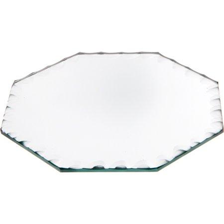 Beveled Glass Mirror, Scalloped Octagonal 3mm - 5