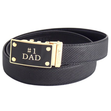 FEDEY Mens Classic Leather No1 DAD Statement Ratchet Belt w Automatic