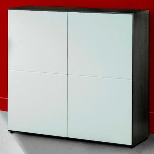 Atom Double Storage Bookcase with Doors