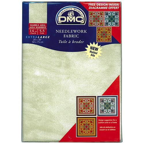 "DMC Marble Aida Needlework Fabric 14-Count, Mountain Sage, 20"" x 30"""