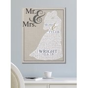 Personalized Loving Words Wedding Canvas, Available in 3 Sizes