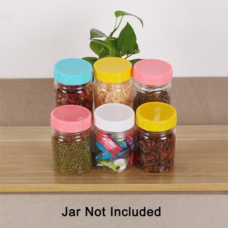 Plastic Mason Jar Lid Regular and Wide Mouth Mason Canning Jar Top Food Storage 12 Pack Assorted Color