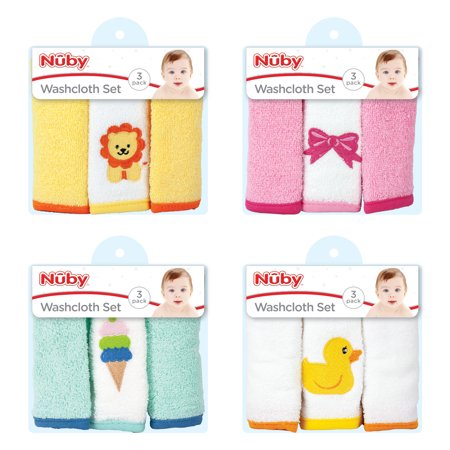 Nuby 3pk Baby Washcloths, Best Brands, Baby Washcloth