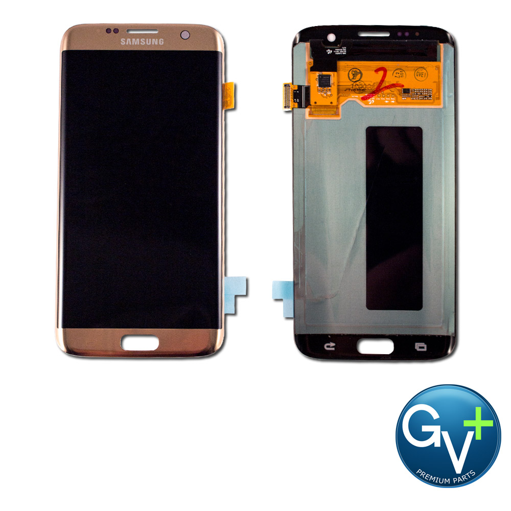 OEM Touch Screen Digitizer and LCD for Samsung Galaxy S7 Edge - Gold Platinum (SM-G935)
